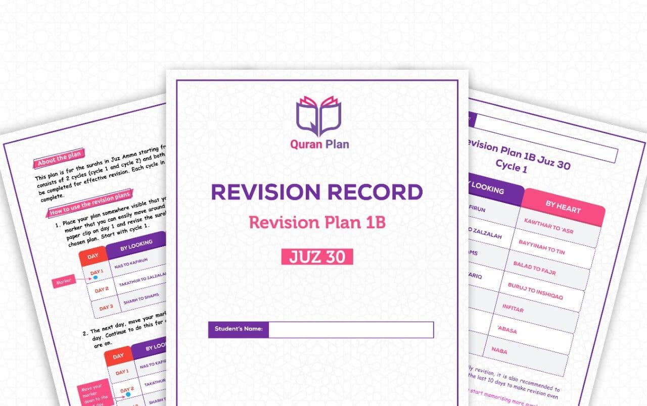 Hifdh Revision Plan 1B