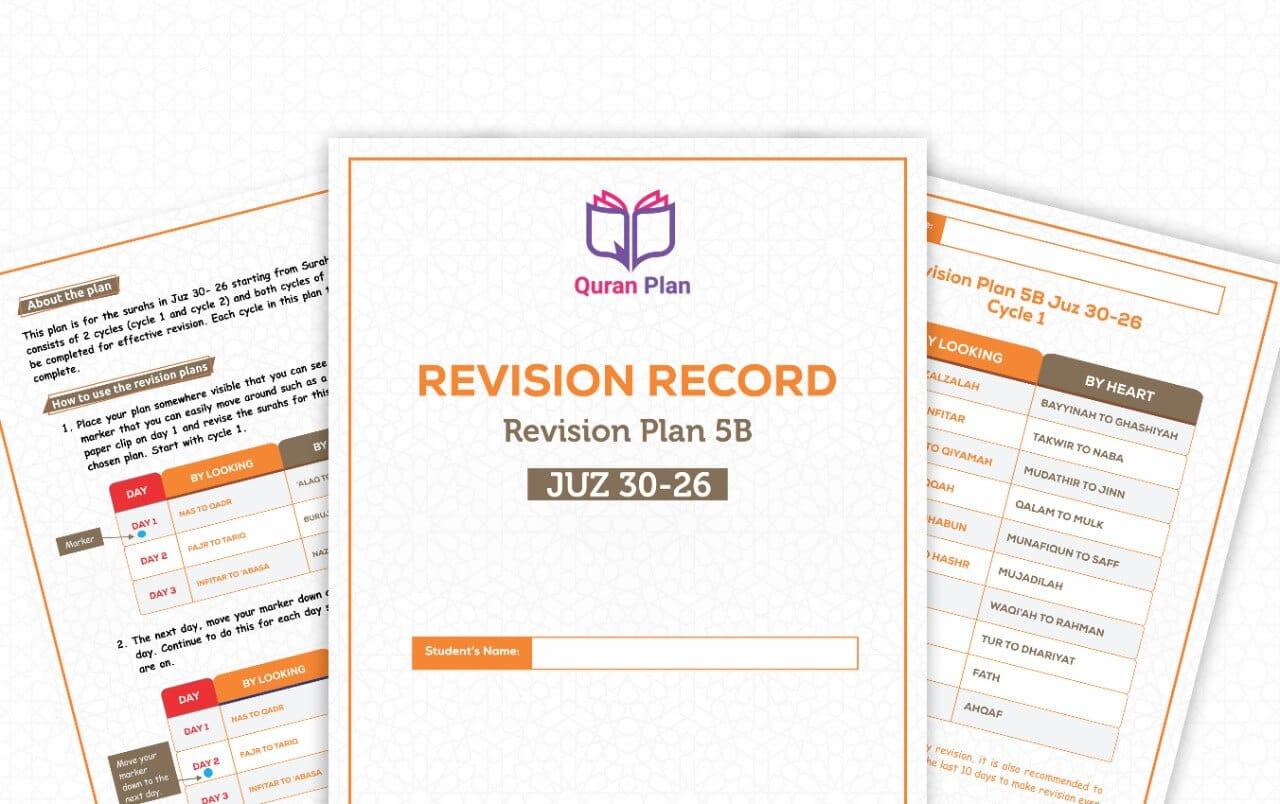 Hifdh Revision Plan 5B